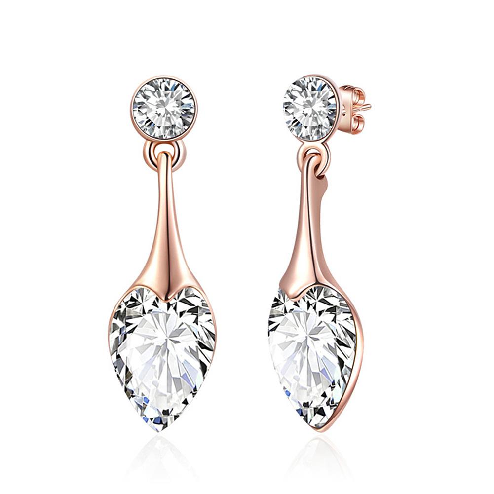 Charming-Jewellery-Fashional-Heart-Shape-Water-Drop-Crystal-Necklace-Earrings