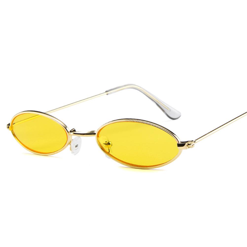 Vintage Retro Frame Sunglasses Metal Small Men Glasse Women Oval Eyewear eCxdoQrBWE