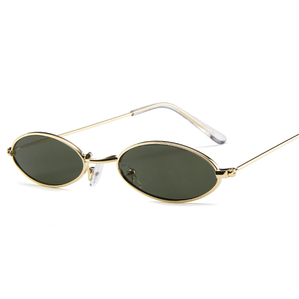 9447f5f384 Men Women s Retro Vintage Small Oval Sunglasses Metal Frame Shades ...