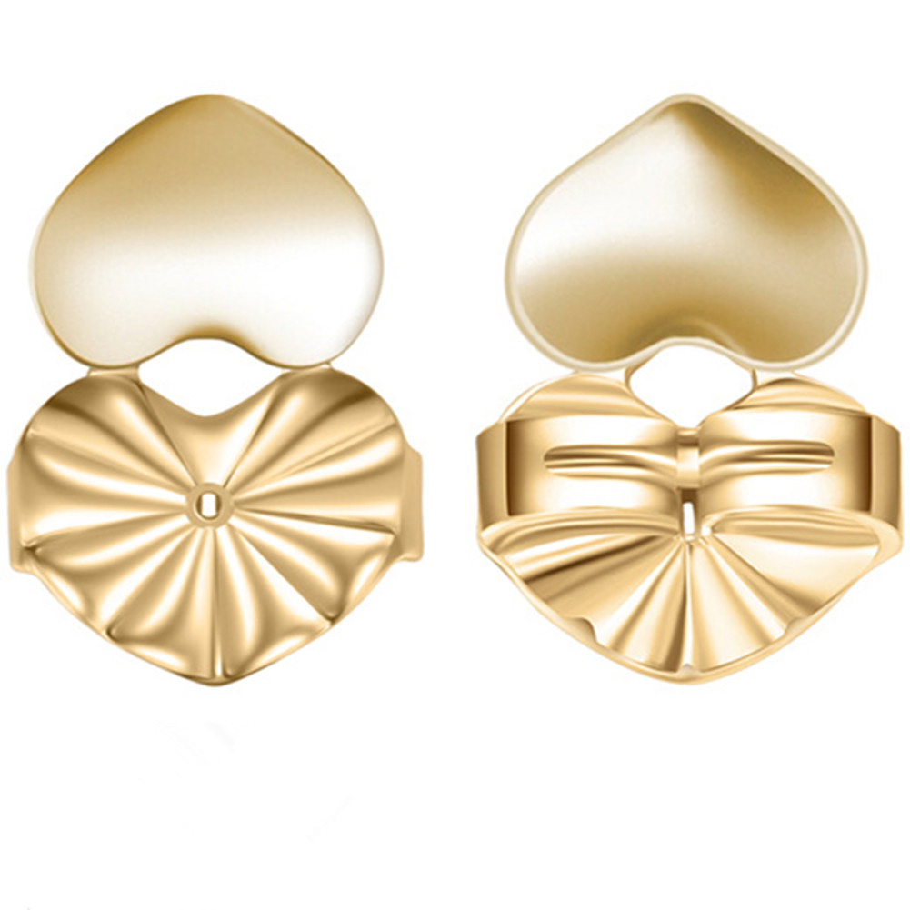 Lifters Gold Silver Pierced Ear Lobe Earrings Backs