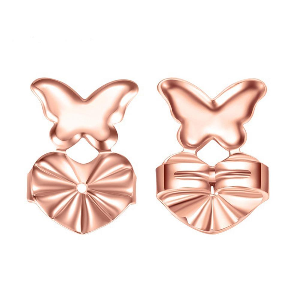 Lifters Gold Silver Pierced Ear Lobe Earrings Backs