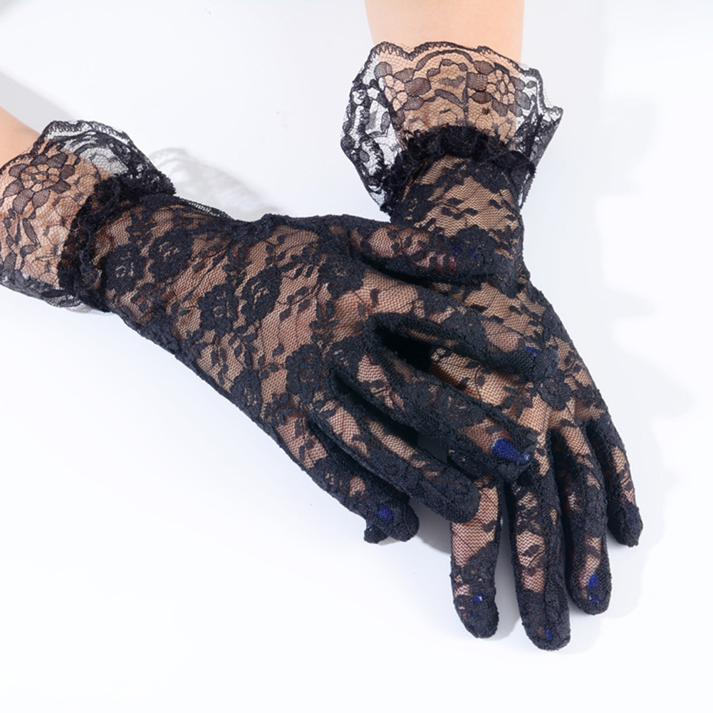 Female Sexy Black Lace Eye Mask + Gloves Sexy Lingerie Accessories ... cbbf898659