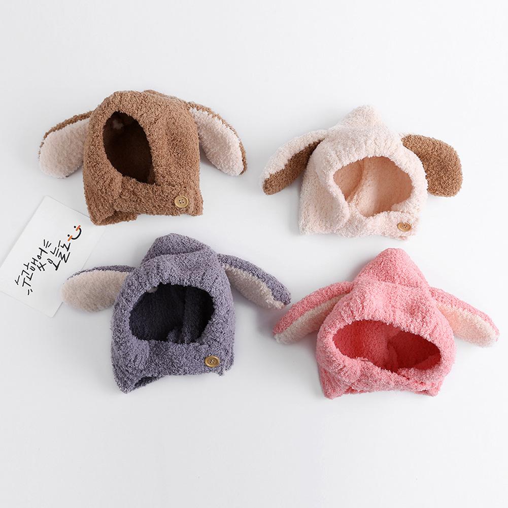 31323b3d102d Winter Baby Warm Hat Cartoon Style Cute Ear Design Plush Caps for ...