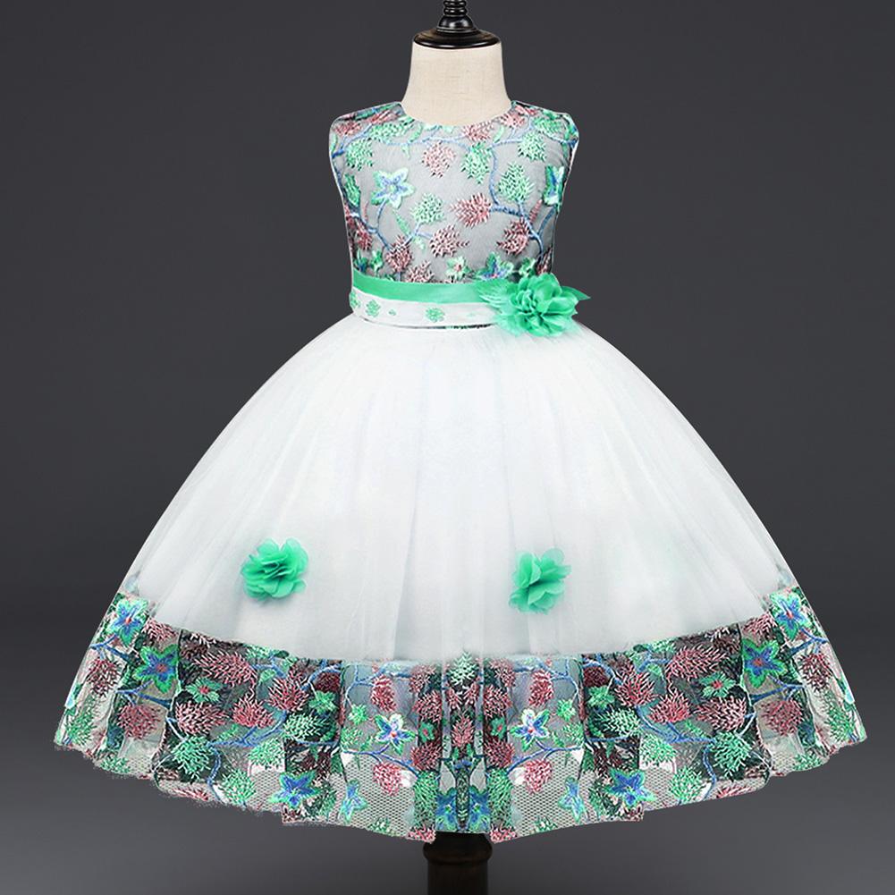 Buy Girl Embroidered Formal Princess Dress Elegant Birthday