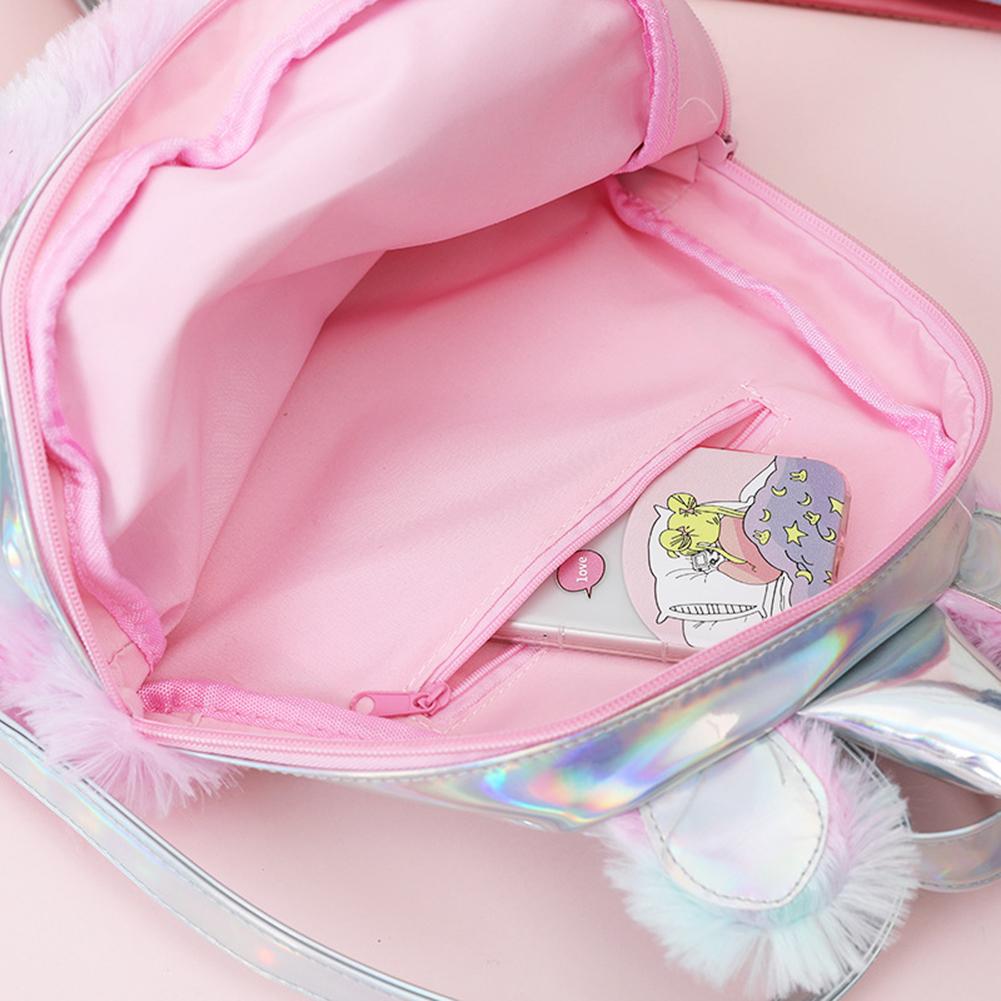Damenmode-Rucksaecke-Cartoon-Schoene-Pluesch-Farbabstimmung-Schultaschen Indexbild 7