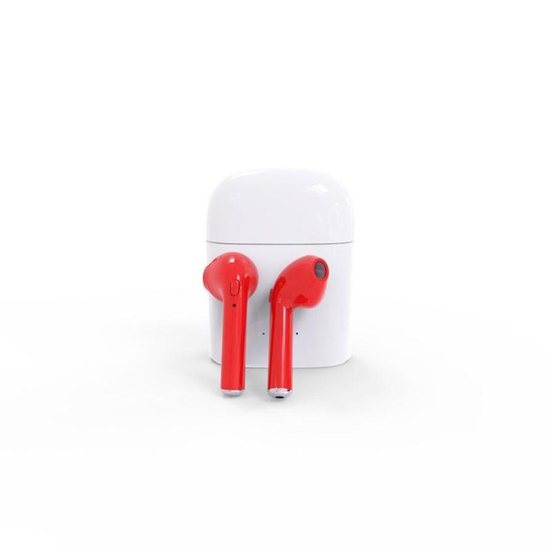 Sport earphones for iphone x - iphone 8 earphones red