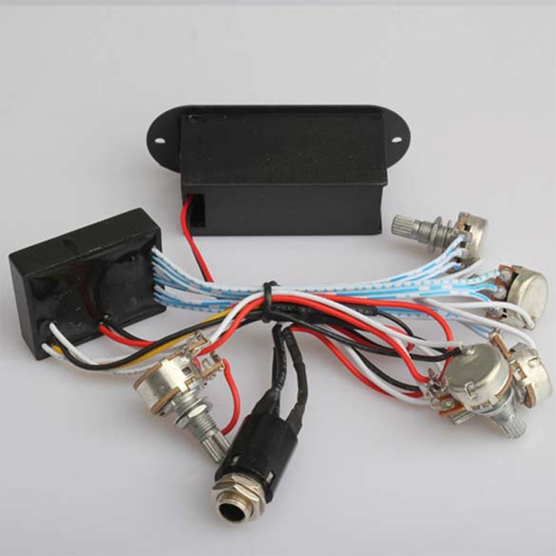 3 band eq preamp circuit bass guitar wiring harness for active bass pickup l016 629771465155 ebay. Black Bedroom Furniture Sets. Home Design Ideas