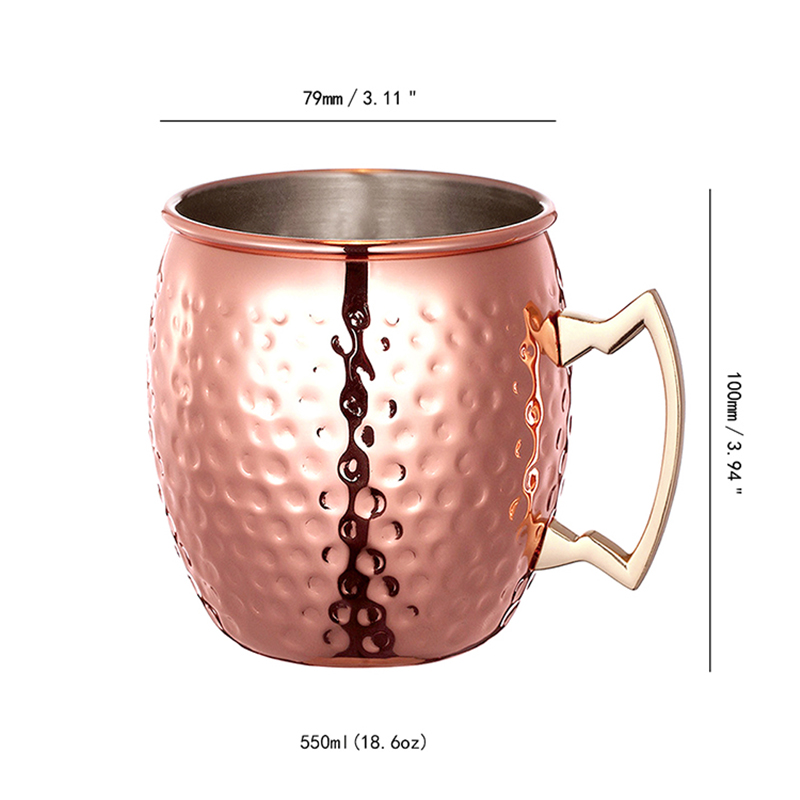 moscow mule geh mmert 100 pure solid kupfer trinkbecher set 18 oz tasse messing ebay. Black Bedroom Furniture Sets. Home Design Ideas