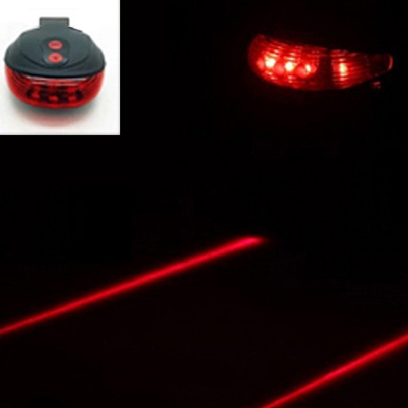 Waterproof-Bicycle-Light-5-LED-2-Lasers-Bike-TailLight-Cycling-Warning-Rear-Lamp