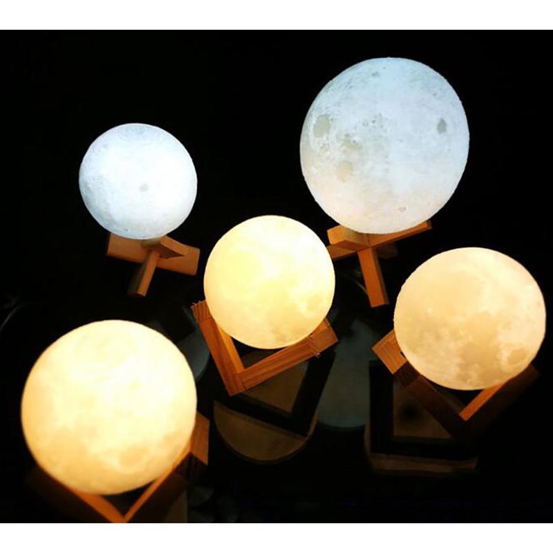 15cm 16 Farben 3D Mond Lampe Nachtlicht Mondlicht Tischlampe Dimmbar Light DHL