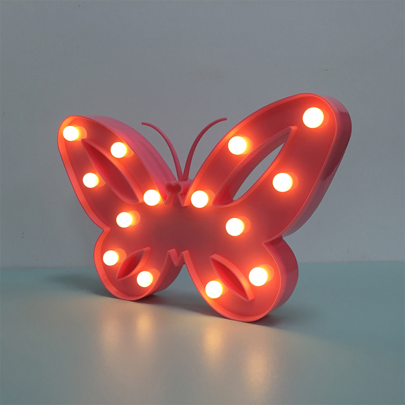 Kreative-LED-3D-Nachtlicht-Schmetterling-Form-Warmweiss-Tischlampe-2019 Indexbild 2