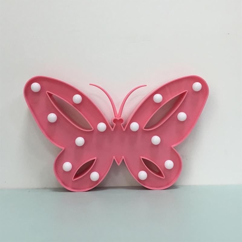 Kreative-LED-3D-Nachtlicht-Schmetterling-Form-Warmweiss-Tischlampe-2019 Indexbild 3