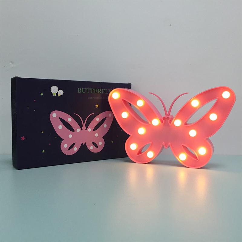 Kreative-LED-3D-Nachtlicht-Schmetterling-Form-Warmweiss-Tischlampe-2019 Indexbild 5
