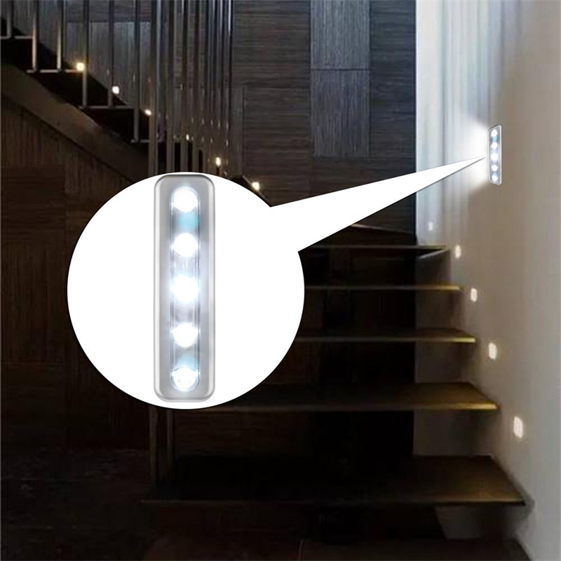 batteriebetrieben 5 led lichtleiste silber schrank schrank streifen touch lampe 6954205261442 ebay. Black Bedroom Furniture Sets. Home Design Ideas