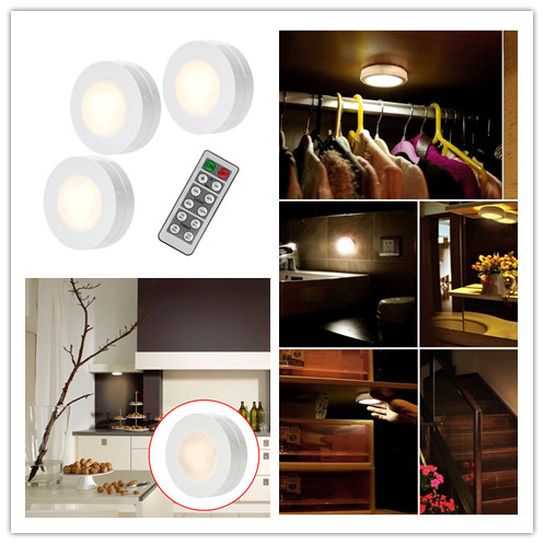 Details About 3 Pcs Led Light Remote Controlled Closet Lights Under Cabinet Lighting Dimmable