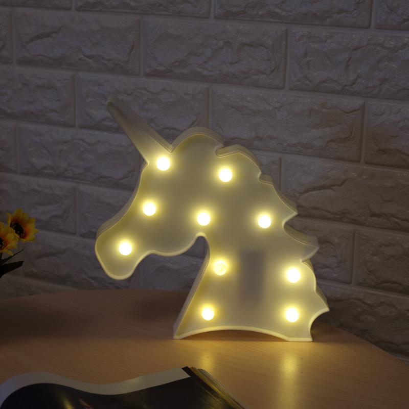 led einhorn nachtlicht dekorative 3d lampe wei kinder schlafzimmer geschenk de ebay. Black Bedroom Furniture Sets. Home Design Ideas