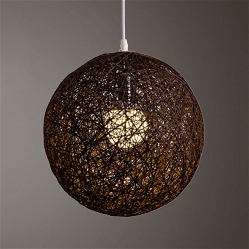15cm round concise hand woven rattan vine ball pendant lampshade 15cm round concise hand woven rattan vine ball aloadofball Image collections