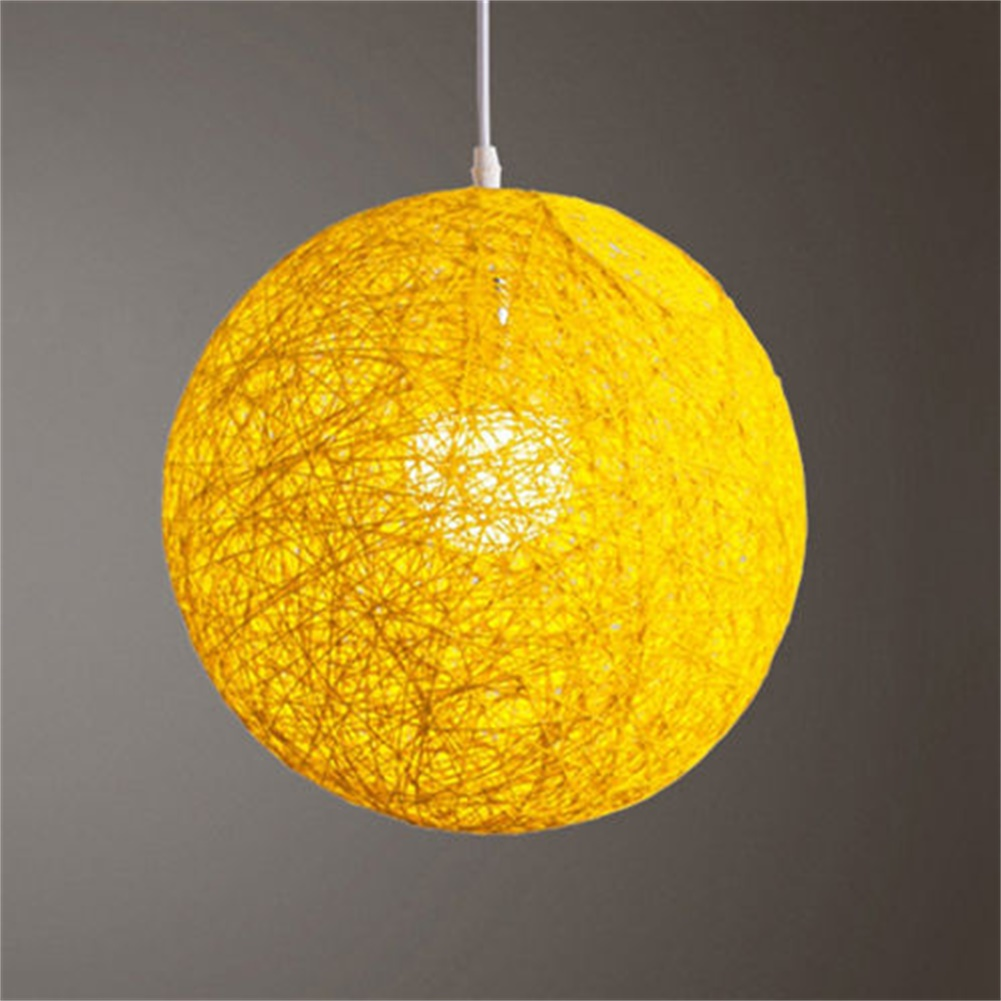 Round hand woven rattan vine ball pendant lampshade light lamp round hand woven rattan vine ball pendant lampshade mozeypictures Images