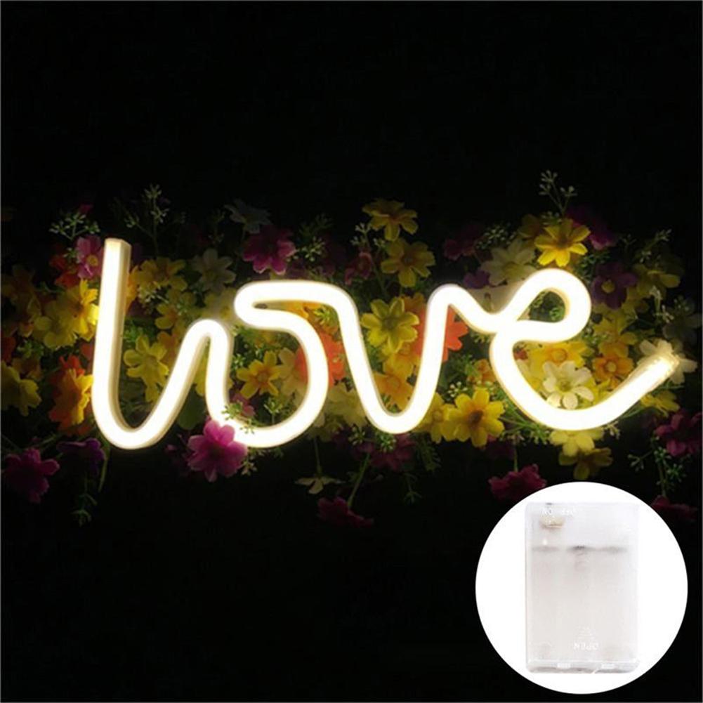 love geformt led licht wand h ngen neonlicht f r festival hochzeit party deko ebay. Black Bedroom Furniture Sets. Home Design Ideas