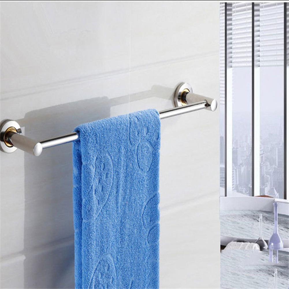 Stainless Steel Wall Mounted Towel Rack Bathroom Hotel Rail Holder ...