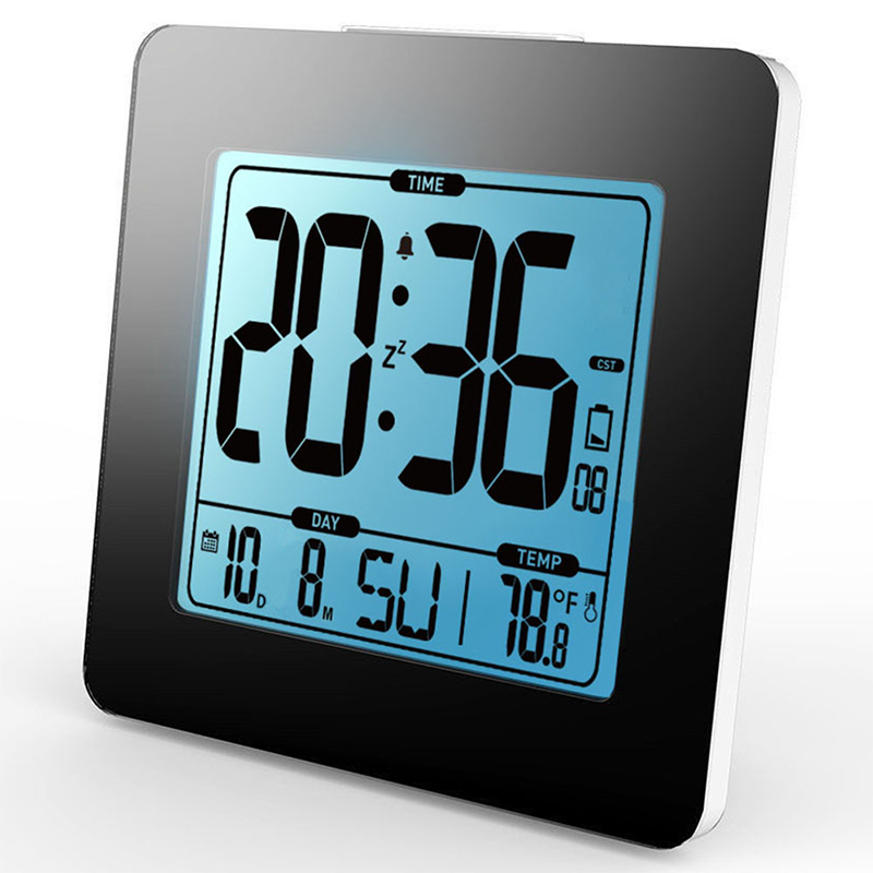 Snooze-Function-Clock-without-Electric-Wave-Alarm-Clock-Blue-Backlight-Decor