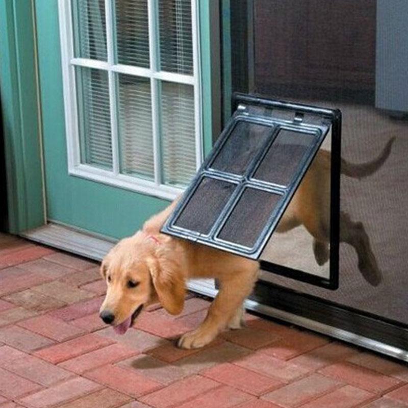 2 Way Pet Screen Door Dog Cat Door Gate For Screen Window 30 X 40