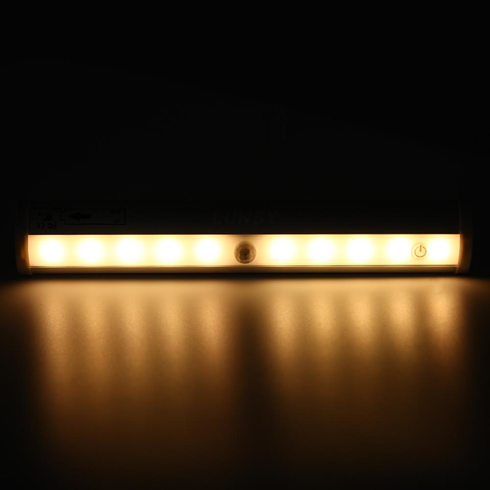 10 LED Under Cabinet Kitchen Home Counter Light Closet