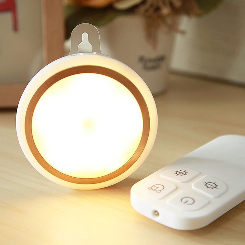 batterieversion fernbedienung led nacht lampe bett licht home office dekoration ebay. Black Bedroom Furniture Sets. Home Design Ideas