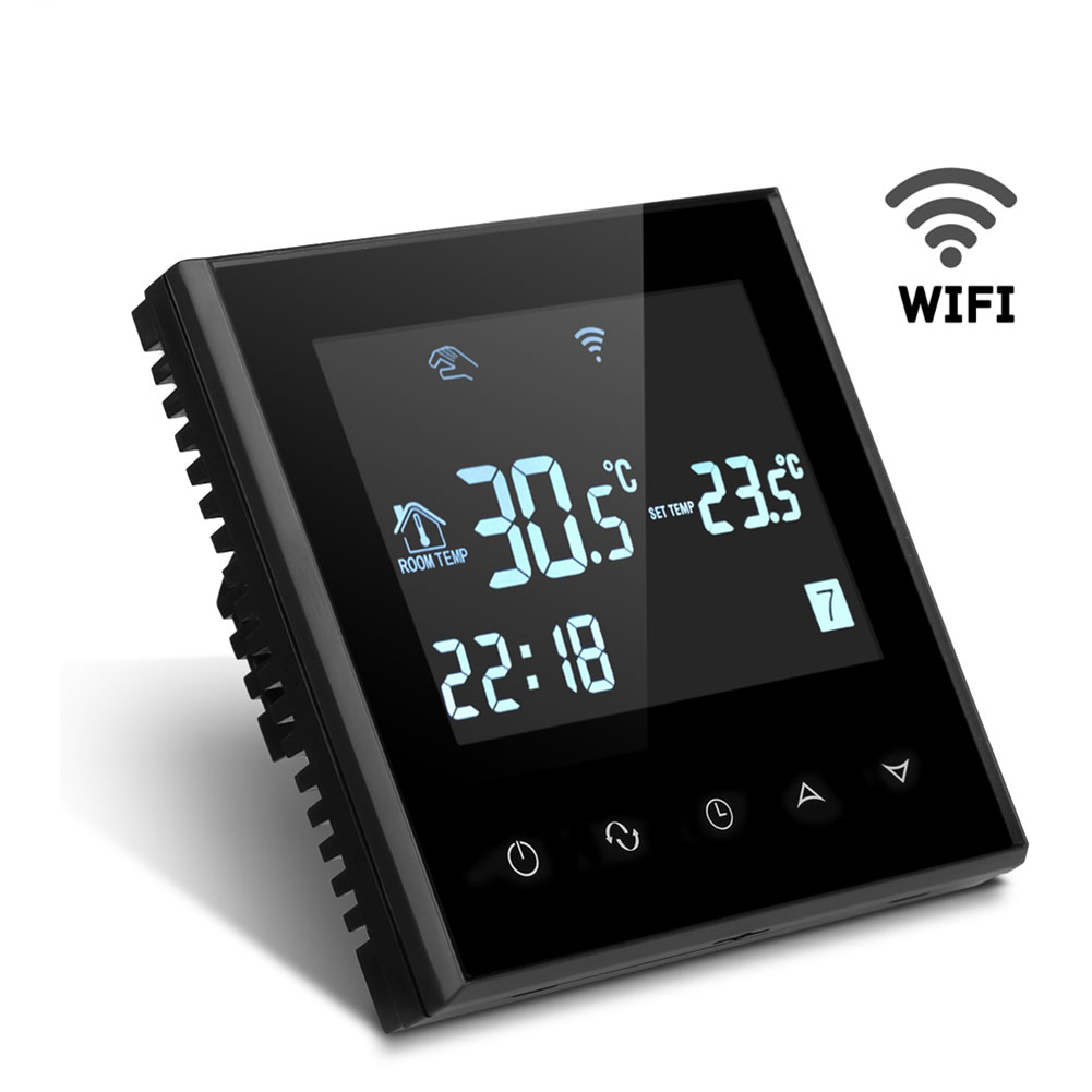 Wifi Thermostat Water Heating Programmable Temperature Controller Room Touch Screen