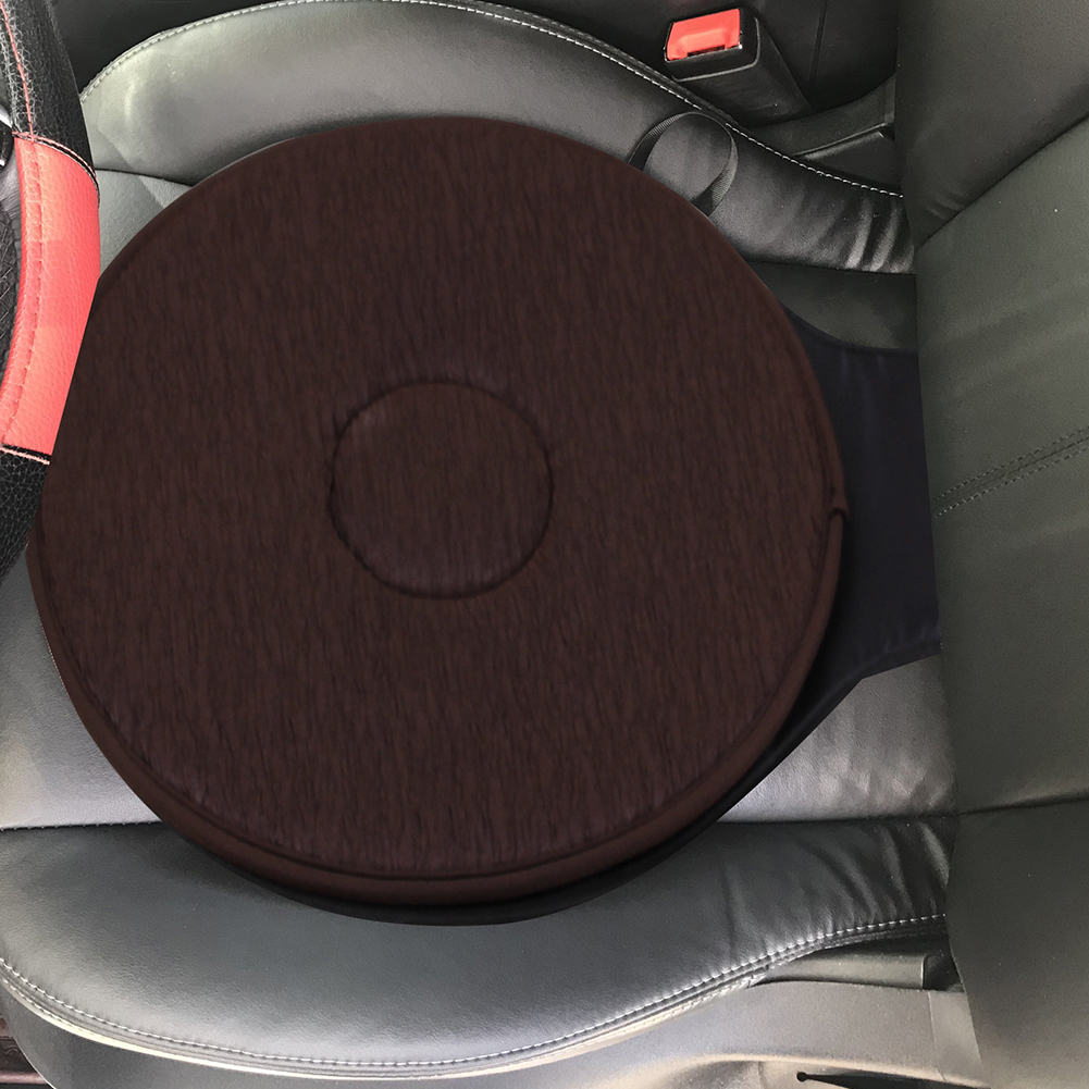 Rotating Swivel Car Chair Seat Mobility Aid Cushion With Memory Foam Home Office