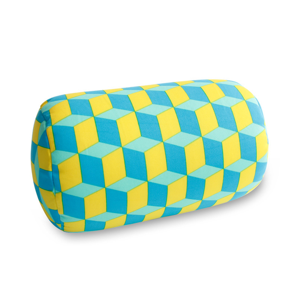 Microbead Napping Roll Pillow Car Cushion Neck Head Leg Back Support