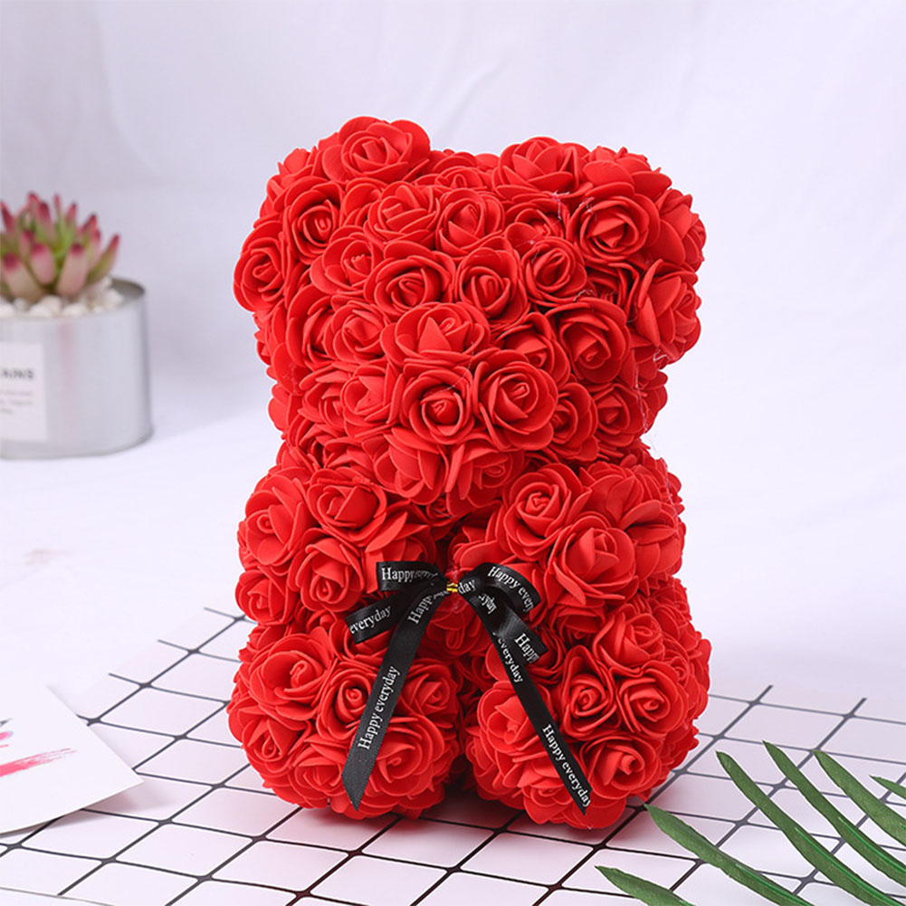 Details About Romantic Red Rose Bear Flower Teddy Boxed Gift For Wedding Birthday Valentine