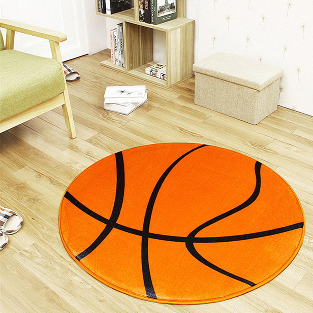 Anti-slip-Ball-Pattern-Round-Floor-Mat-Bedroom-Carpet-Living-Room-Area-Rugs thumbnail 8