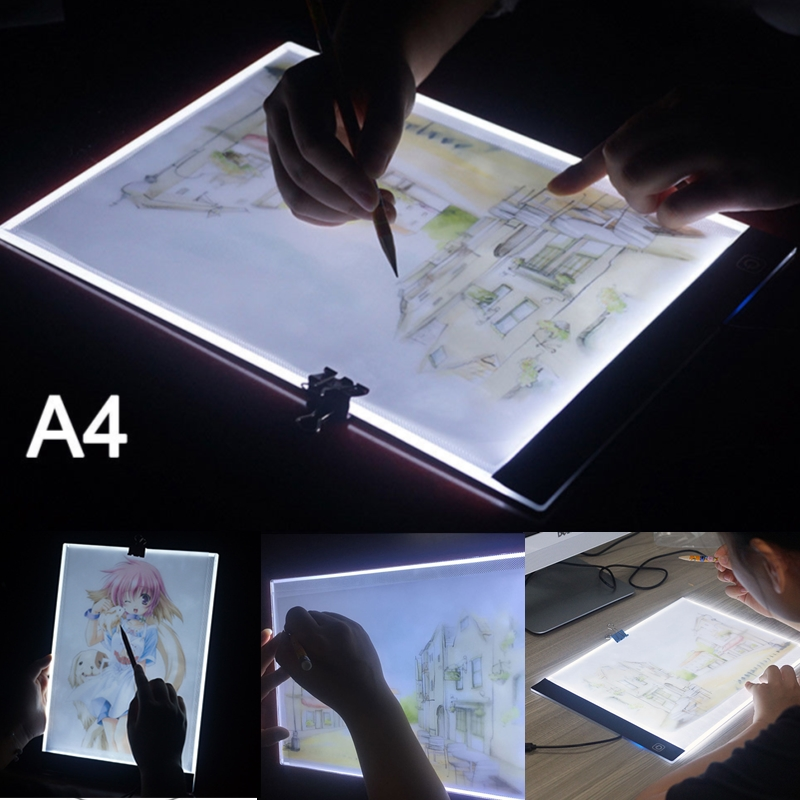 A4 LED Light Graphic Tablet for Drawing Board Panel Lighting Stencil Tracing Pad