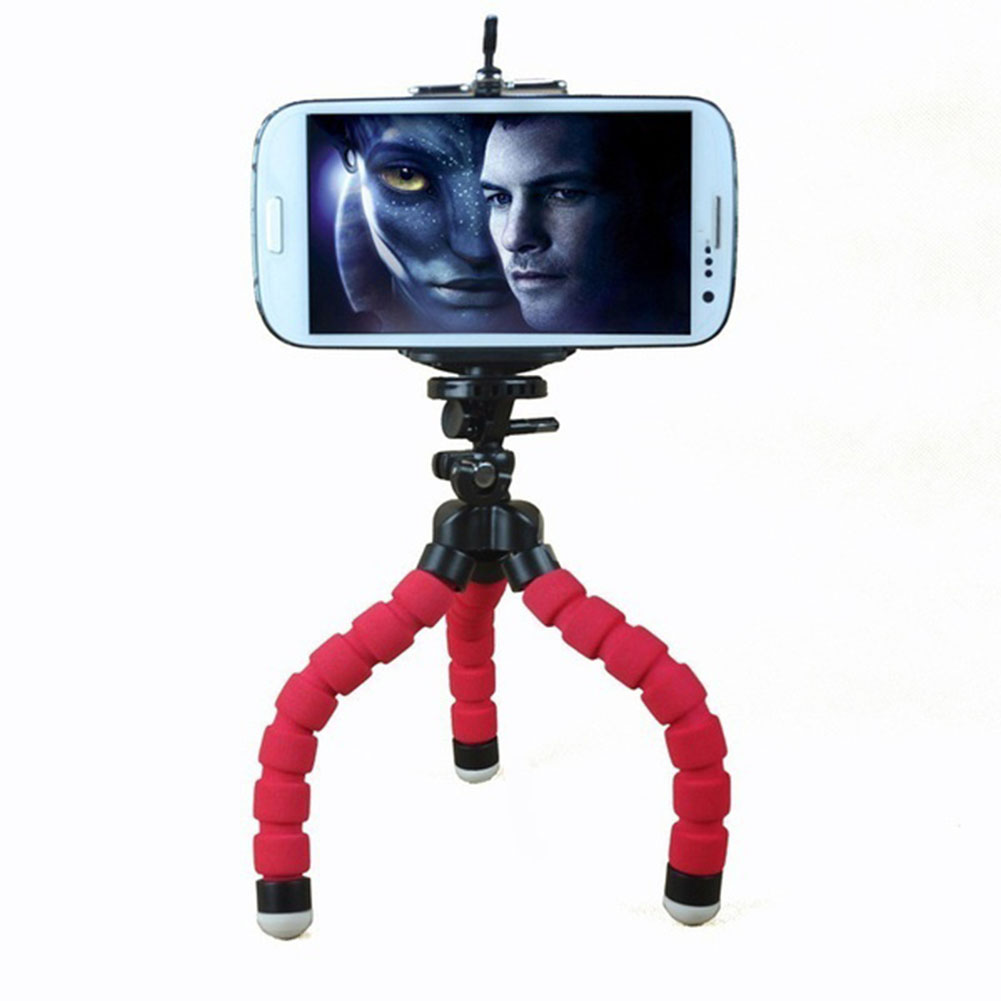 mini flexible stativ tripod mit halterung halter holder. Black Bedroom Furniture Sets. Home Design Ideas