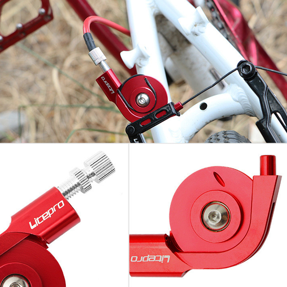 Bike V Brake Adapter Converter to Caliper Folding Bicycle Braking System Silver