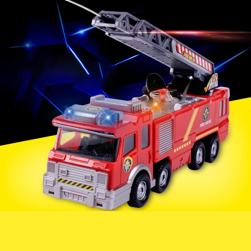 Simulation-Mini-Fire-Truck-Modell-mit-Omnibearing-Schwenkrohr-Kinder-Cartoon Indexbild 3