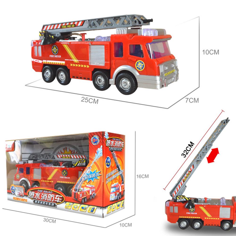 Simulation-Mini-Fire-Truck-Modell-mit-Omnibearing-Schwenkrohr-Kinder-Cartoon Indexbild 7
