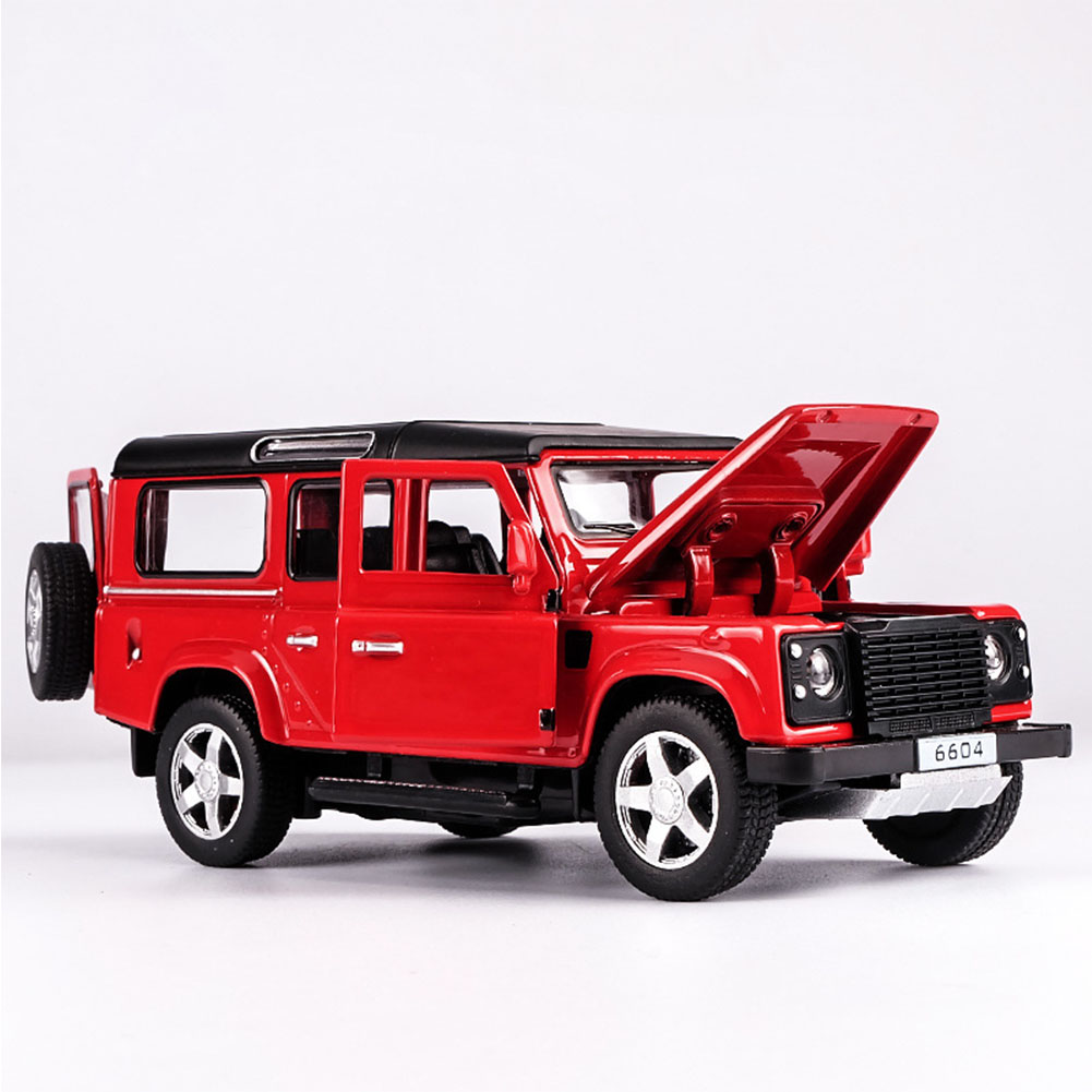 Land Rover Defender Black SUV + Touring Car Model Cars 1