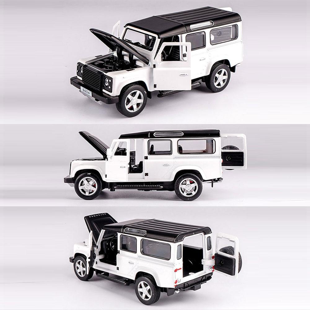 Land Rover Defender Black SUV + Touring Car Model Cars 1