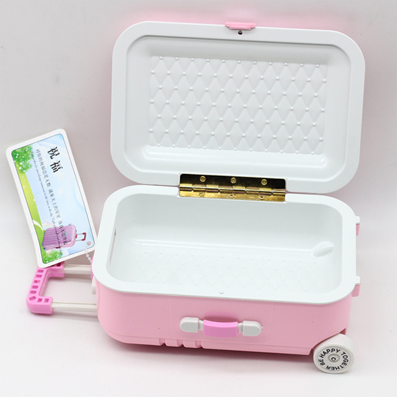 lovely plastic suitcase mini luggage box for barbie doll. Black Bedroom Furniture Sets. Home Design Ideas