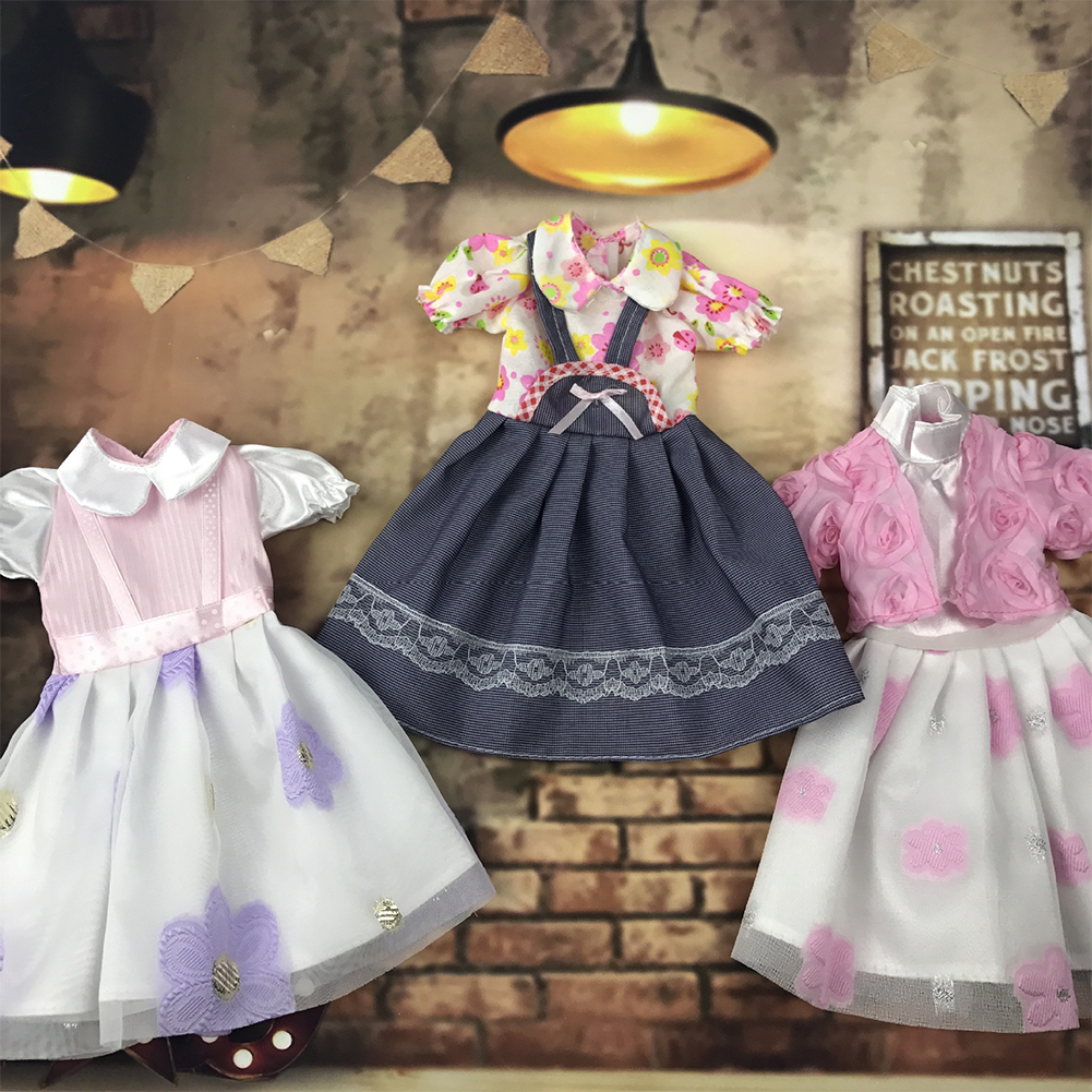 Delicate Bowknot Lace Casual Dress Outfit Fit for 18inch American Girl Doll