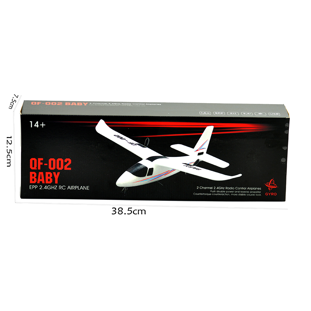 DIY QF-002 RC Helicopter Remote Control Plane Glider Airplane 2.4Ghz 2CH RTF NEW