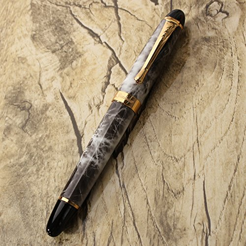 X450-Brown-Marble-Chunky-Medium-Flex-Nib-Fountain-Pen-for-Student-Office-Gift thumbnail 6