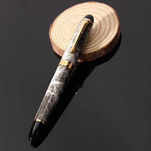 X450-Brown-Marble-Chunky-Medium-Flex-Nib-Fountain-Pen-for-Student-Office-Gift thumbnail 7