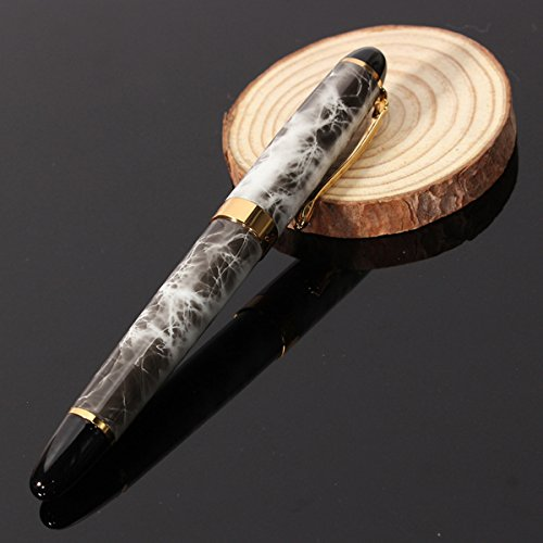 X450-Brown-Marble-Chunky-Medium-Flex-Nib-Fountain-Pen-for-Student-Office-Gift thumbnail 3