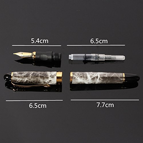 X450-Brown-Marble-Chunky-Medium-Flex-Nib-Fountain-Pen-for-Student-Office-Gift thumbnail 2