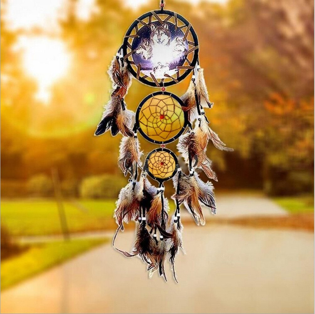 US Seller Dream Catcher With feathers Wall Hanging Bead Ornament ...