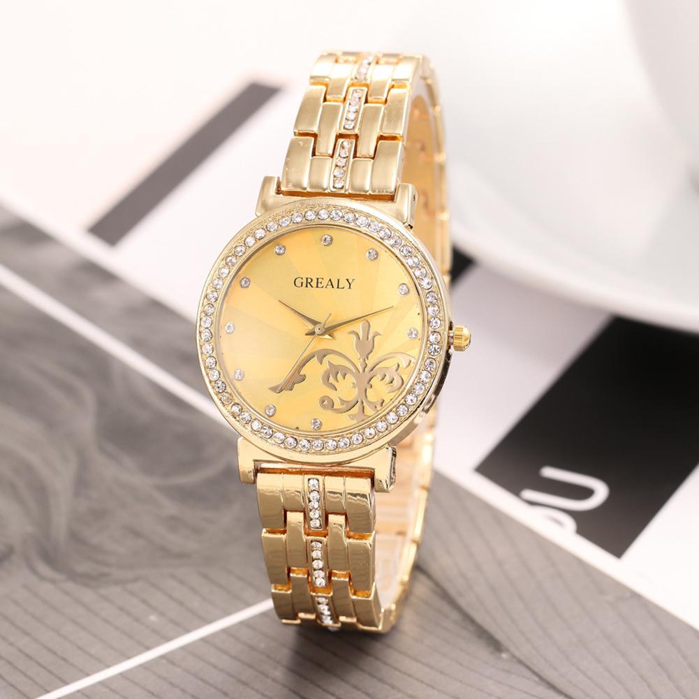 REALY-Fashion-Women-Men-Diamond-Crystal-Stainless-Steel-Wrist-Quartz-Watches thumbnail 2