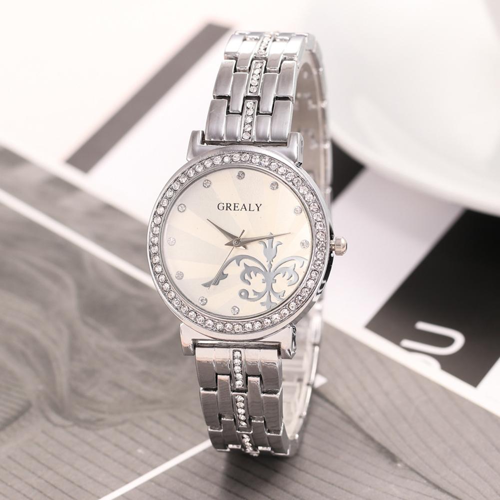 REALY-Fashion-Women-Men-Diamond-Crystal-Stainless-Steel-Wrist-Quartz-Watches thumbnail 3